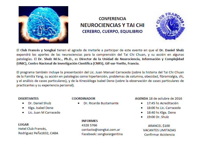 """Neurociencias y Tai Chi """"cerebro, cuerpo, equilibrio"""""""